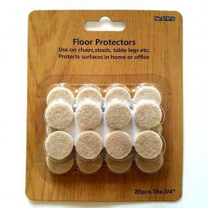 x20 3/4 inch diameter floor protectors