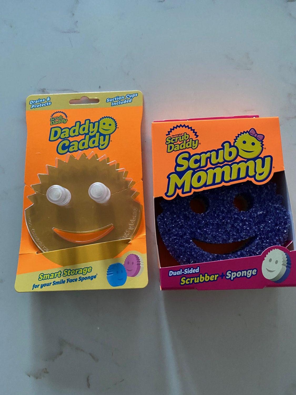 scrub mummy caddy